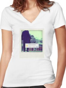 Sherlock Polaroid Women's Fitted V-Neck T-Shirt
