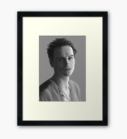 Andrew Scott as Jim Moriarty Framed Print