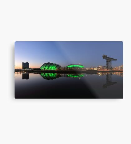 Waterfront Pano in the Twilight Metal Print