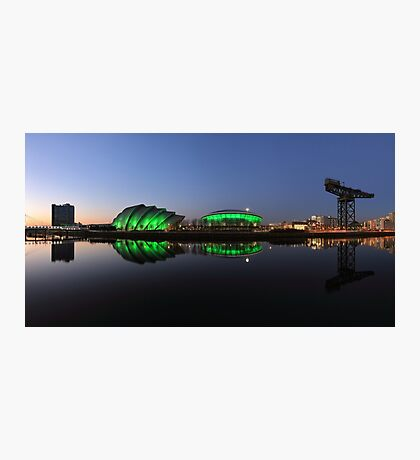 Waterfront Pano in the Twilight Photographic Print