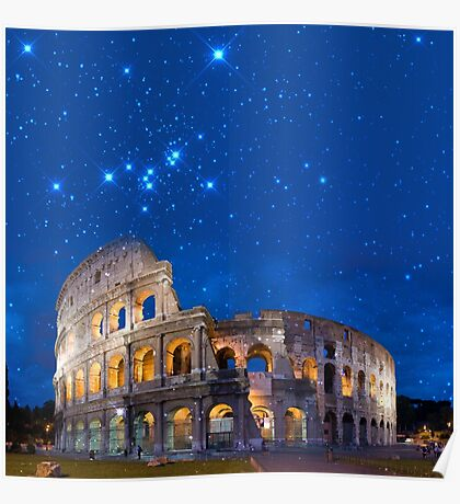 Colosseum in Rome, Italy (Square) Poster