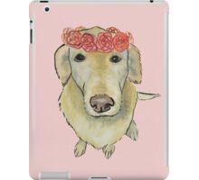 Flower Crown Pooch iPad Case/Skin