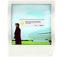 Sherlock polaroid Poster