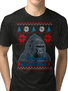 knitting harambe rest in place  Tri-blend T-Shirt