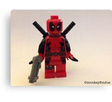 Lego Deathpool  Canvas Print