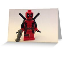 Lego Deathpool  Greeting Card
