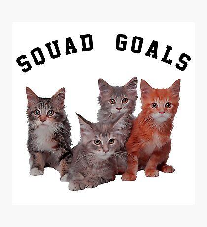Squad Goals cat  Photographic Print