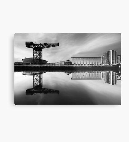 Clyde Waterfront Mono Metal Print