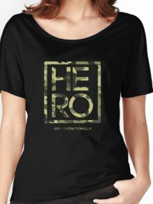 HERO GREEN CAMO SQUARE Women's Relaxed Fit T-Shirt