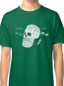 Poster of vintage skull hipster label Classic T-Shirt
