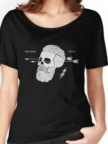 Poster of vintage skull hipster label Women's Relaxed Fit T-Shirt
