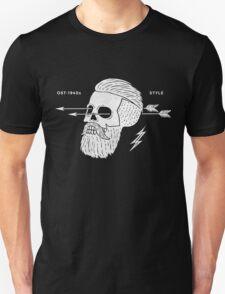 Poster of vintage skull hipster label Unisex T-Shirt
