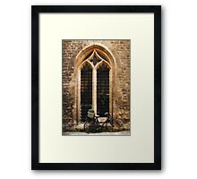 The Vaults Garden Cafe Bicycle, Oxford, England Framed Print