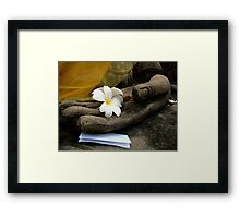 In Buddha's Hand Framed Print