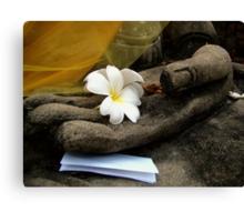 In Buddha's Hand Canvas Print
