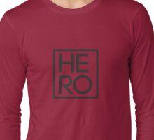 HERO BLACK AND WHITE SQUARE Long Sleeve T-Shirt