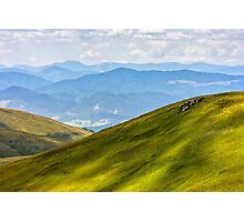 hillside meadow in mountain Photographic Print