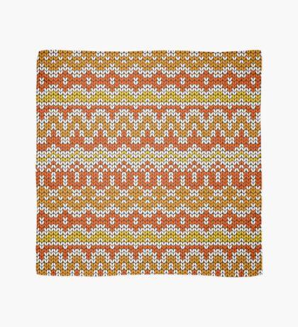 Orange seamless knitting pattern. Autumn background. Scarf