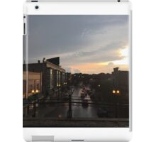 Sunset Dusk Shot From the Bryn Mawr Stop iPad Case/Skin