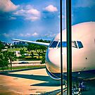 Boeing 777 at Tampa International Airport in Florida by Chris L Smith