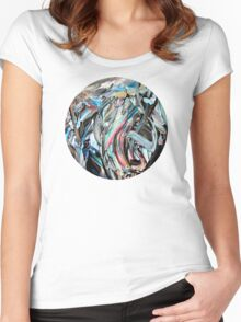 RGB Marble Painting Women's Fitted Scoop T-Shirt