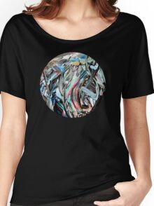 RGB Marble Painting Women's Relaxed Fit T-Shirt