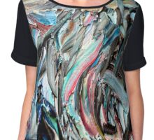 RGB Marble Painting Chiffon Top