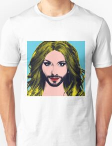 Conchita Wurst - Pop Art - Blue version 5 T-Shirt