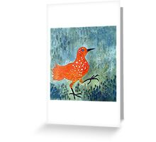 Bird Brain Rain Dance Greeting Card