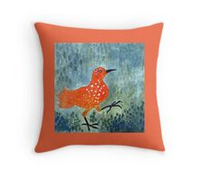 Bird Brain Rain Dance Throw Pillow