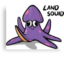 Land Squid Canvas Print