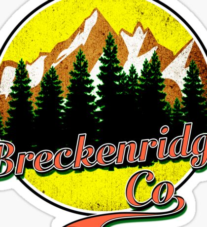 BRECKENRIDGE COLORADO Hiking Skiing Mountain Mountains Camping Sticker
