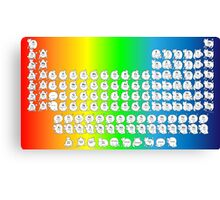 Rainbow Cat Periodic Table Canvas Print