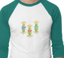 The Cacti Three Men's Baseball ¾ T-Shirt