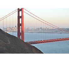 Golden Gate Bridge in front of San Francisco Photographic Print