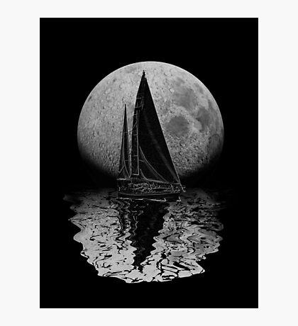 Midnight Sailing Photographic Print