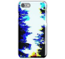 Glitch - Trees - MatchaAlan iPhone Case/Skin