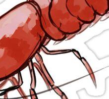 Red Cherry Shrimp Sticker Sticker