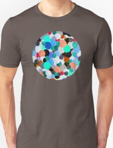 Aqua Rainbow Paint Drops Unisex T-Shirt