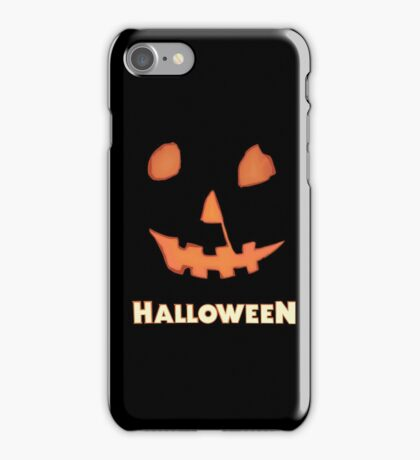 Halloween Jack-o'-Lantern iPhone Case/Skin
