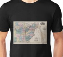 0238 Railroad Maps Map of the Cincinnati Southern Railway and connections Published for the Cincinnati Southern Unisex T-Shirt