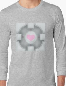 Weighted Companion Cube (Portal 2) Long Sleeve T-Shirt