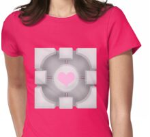 Weighted Companion Cube (Portal 2) Womens Fitted T-Shirt