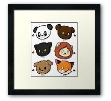 Animal Babies Framed Print