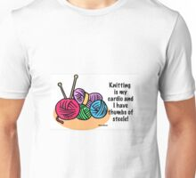Knitting is my cardio Unisex T-Shirt