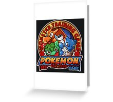 MONSTER TRAINING GAME- POKEMON Greeting Card