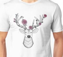 Flower Crown Stag Unisex T-Shirt