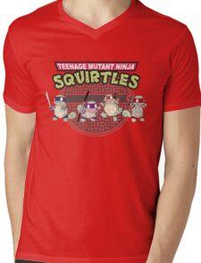 TEENAGE MUTANT NINJA SQUIRTLES T-SHIRT Mens V-Neck T-Shirt
