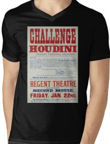 Performing Arts Posters Challenge to Houdini Regent Theatre Salford 2844 Mens V-Neck T-Shirt