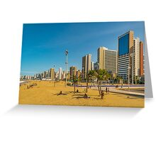 Beach and Buildings of Fortaleza Brazil Greeting Card